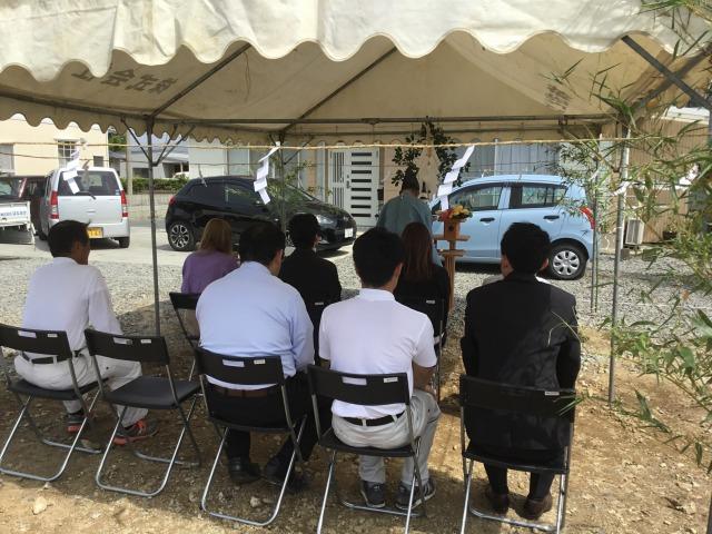 5月16日(水)、石井町・S様邸で地鎮祭がありました