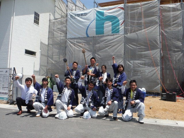 5月12日(土)、徳島市・K様邸で上棟式がありました