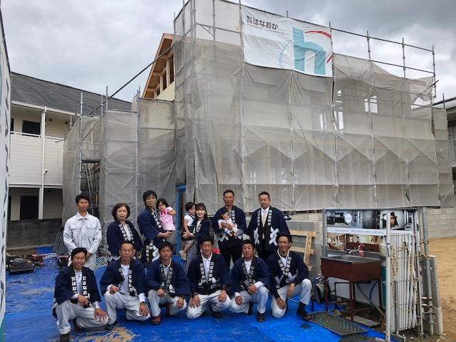 5月19日(土)、徳島市・M様邸で上棟式がありました