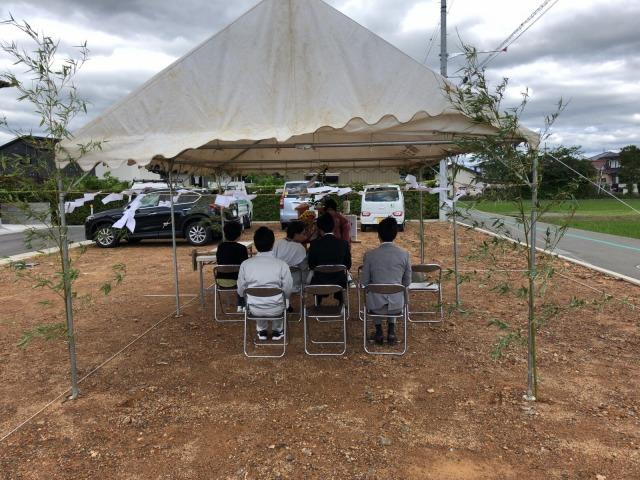 5月19日(土)、阿南市・S様邸で地鎮祭がありました。