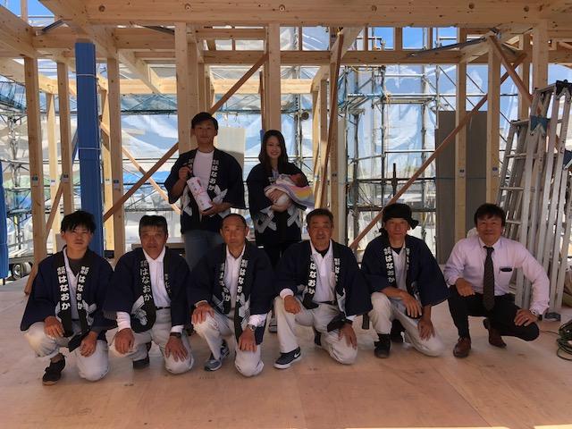 5月22日(火)、小松島市・H様邸で上棟式がありました